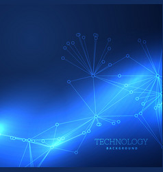 blue technology background design vector image