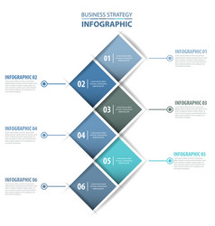 business infographics design template blue grey vector image vector image