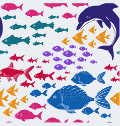 Cartoon seamless underwater background vector