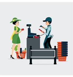 Checkout counter vector