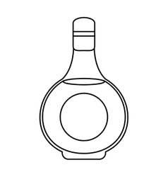 Cognac bottle alcochol drink style outline vector