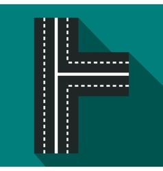Crossroads icon in flat style vector image vector image