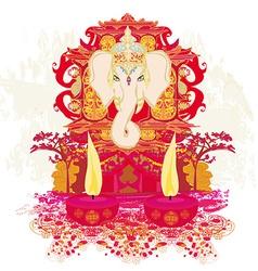 Diwali ganesha design vector