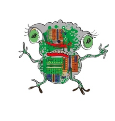 Electronic Frog vector image vector image