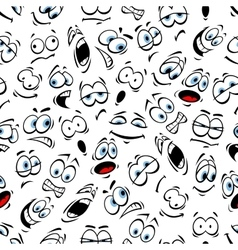 Emoticons pattern of human face emotions vector image