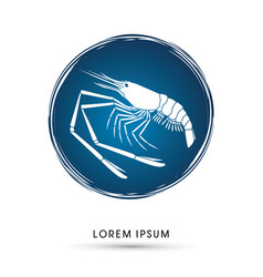 Giant freshwater prawn shrimp vector
