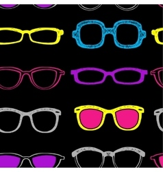 Glasses seamless background vector image