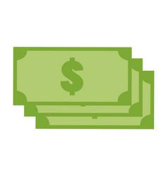 green money icon on white background money icon vector image vector image
