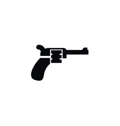 isolated weapon icon revolver element can vector image vector image