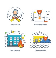 life insurance business housing property vector image
