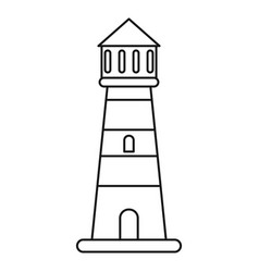 lighthouse guide sea thin line vector image
