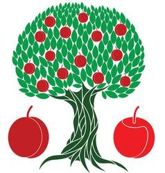 Peach tree vector image vector image