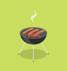 Sausages in barbecue isometric vector
