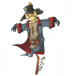 scarecrow vector image vector image