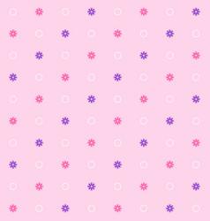 Simple seamless flower pattern vector