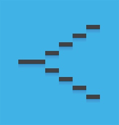 Stair blue icon vector