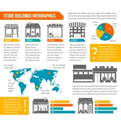 Store building infographic vector image vector image