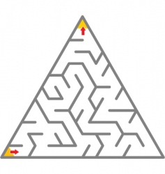 triangle maze vector image vector image