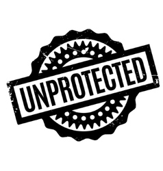 Unprotected rubber stamp vector