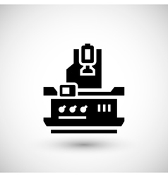 Vertical milling machine icon vector