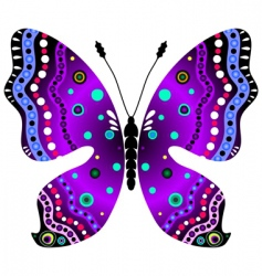 violet and black butterfly vector image vector image
