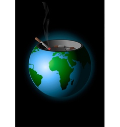 We are polluting the earth vector