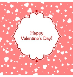 Valentines day greeting card vector