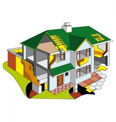 House diagram vector