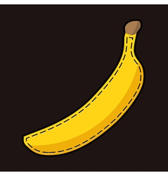 Yellow lockstich banana with shadow vector