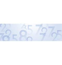 Numbers panoramic background vector