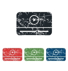 Mediaplayer grunge icon set vector image