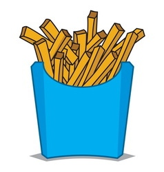 French fries4 vector