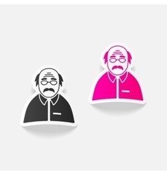 Realistic design element senior citizens vector