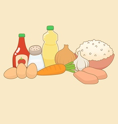 Food ingredients doodle vector
