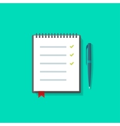 To do list  notebook checklist icon vector
