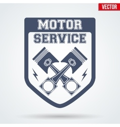 Vintage motor service signs and label vector