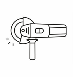 Angle grinder icon vector