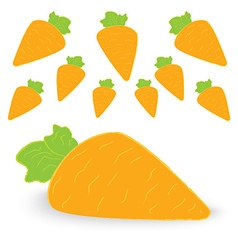 carrot easter day vector image