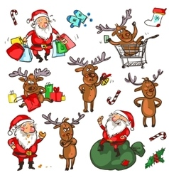 Christmas characters - set vector