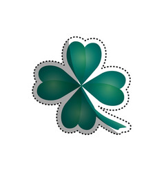 clover luck leaf vector image