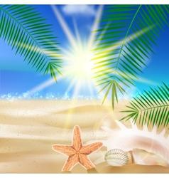 Creative graphic summer design vector image