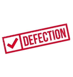 Defection rubber stamp vector