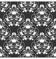 Elegant damask dark seamless background vector
