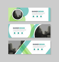 Green abstract triangle corporate business banner vector