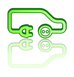 Green electrical vehicle car vector