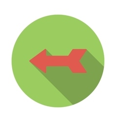 Left red arrow icon flat style vector image vector image
