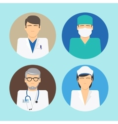 Medical avatars set vector image vector image