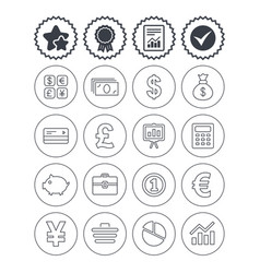 Money and business icon cash and cashless money vector