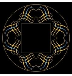 Monogram emblem template vector image