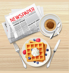 Morning newspaper poster vector